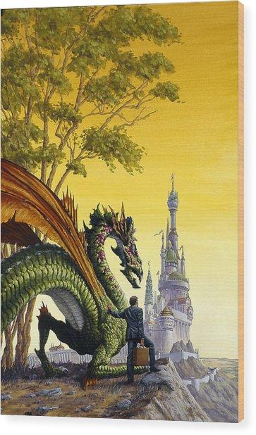 Dragon For Sale Wood Print by Richard Hescox