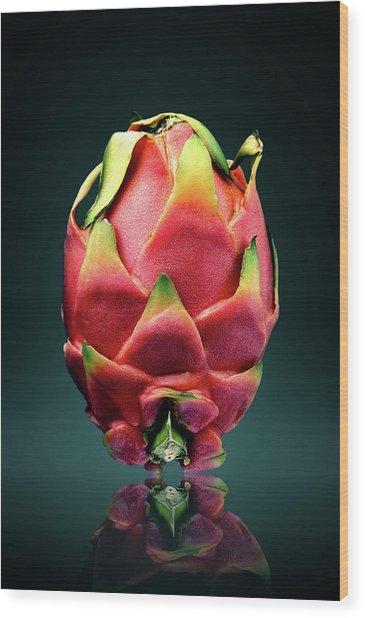 Dragon Fruit Or Pitaya  Wood Print
