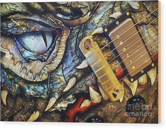 Dragon Guitar Prs Wood Print