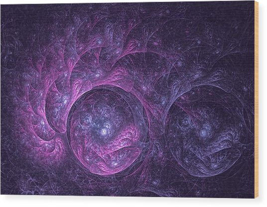 Dragon Nebula Reloaded Wood Print