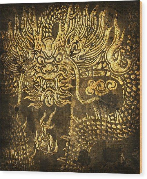Dragon Pattern Wood Print