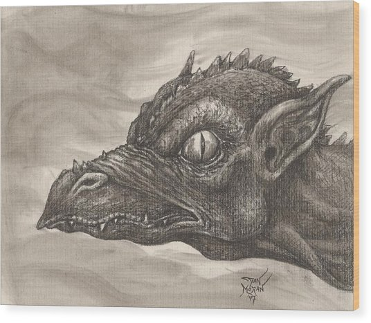 Dragon Portrait No. 2 Wood Print