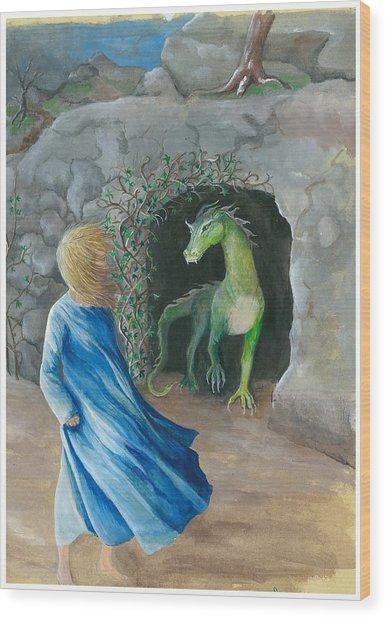Dragon Princess 1 Wood Print by Sally Balfany