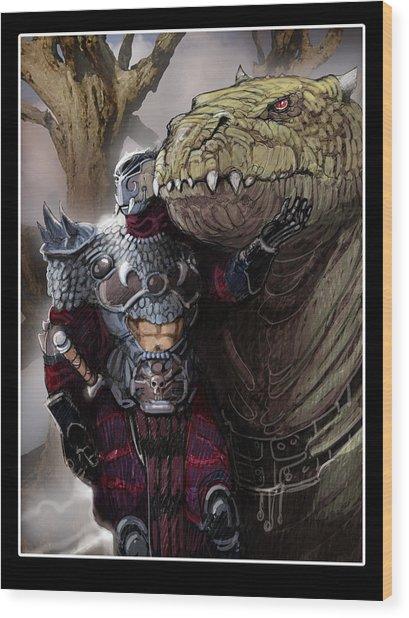 Dragon Rider02 Wood Print by Roel Wielinga