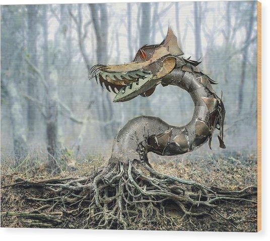 Dragon Root Wood Print
