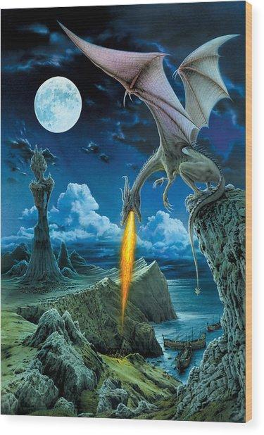 Dragon Spit Wood Print