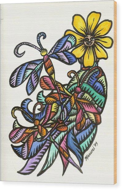 Dragonflies 2009 Wood Print