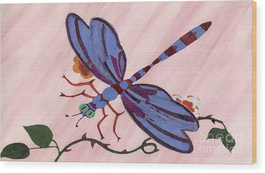 Dragonfly Wood Print by Norman Reutter