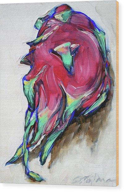 Dragonfruit Wood Print by Sheila Tajima