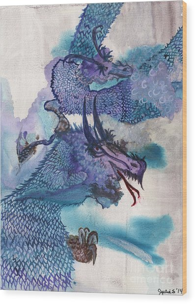 Dragons Wood Print