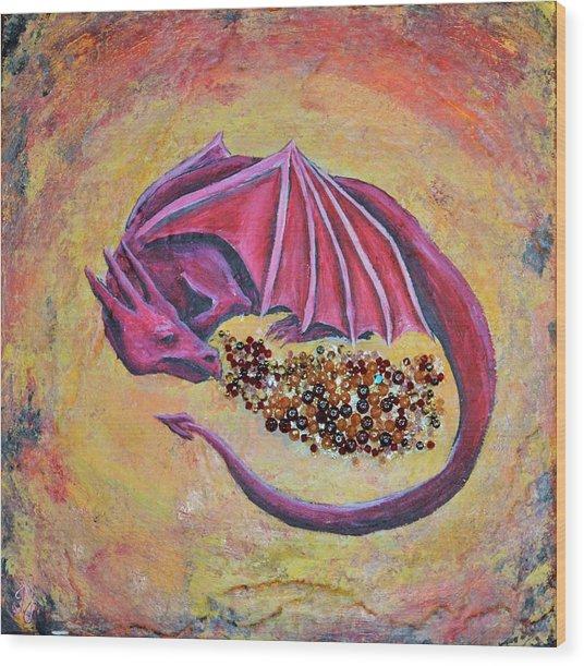 Dragon's Treasure Wood Print