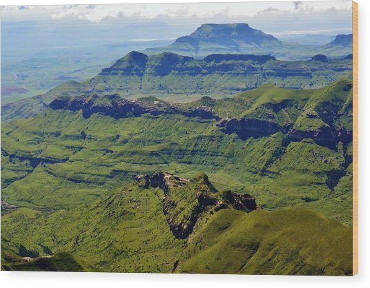 Drakensberg Mountains Wood Print