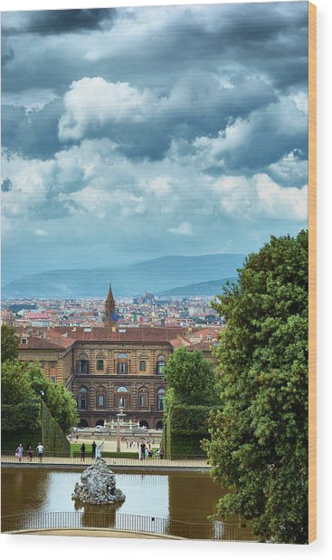 Drama In The Palace Of Firenze Wood Print