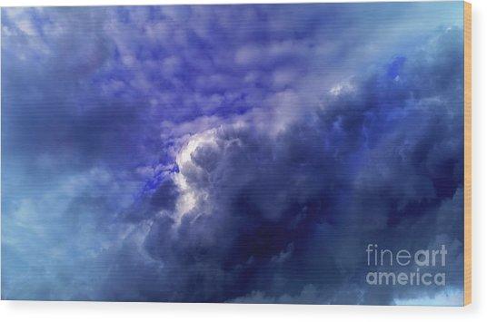 Dramatic Cumulus Sky Wood Print