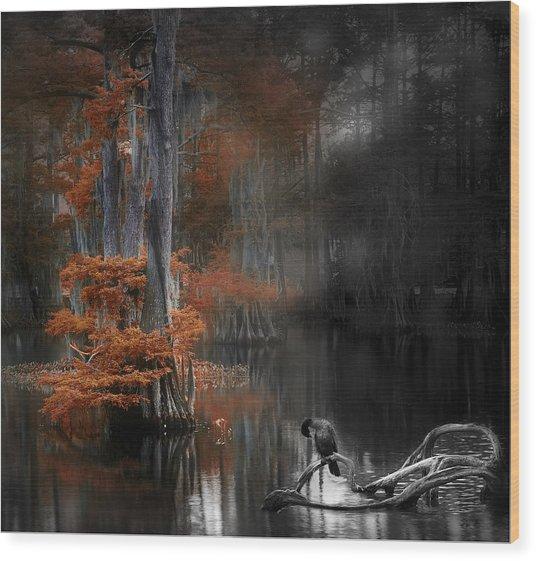 Dramatic Lake Wood Print