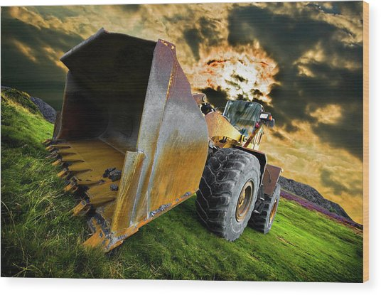 Dramatic Loader Wood Print