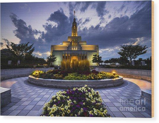 Draper Mormon Lds Temple - Utah Wood Print