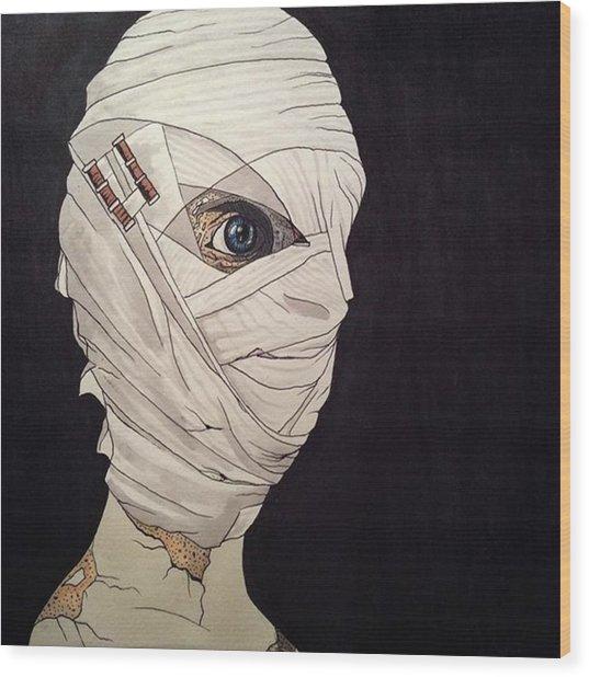 Mummy Monday Wood Print by Russell Boyle