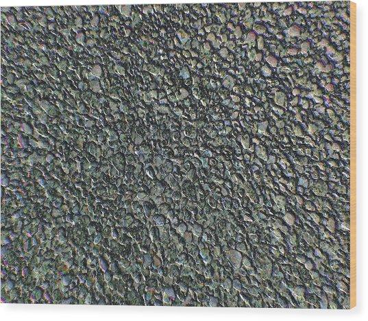 Drawn Pebbles Wood Print