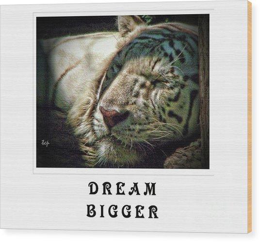 Dream Bigger Wood Print