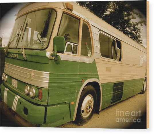 Dream Bus Wood Print by Chuck Taylor