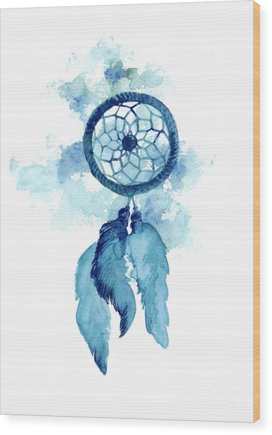 Dream Catcher Watercolor Art Print Painting Wood Print