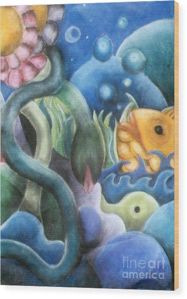 Dream Fish Wood Print