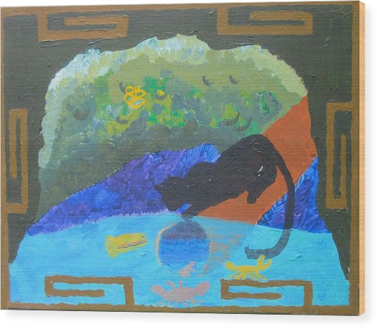 Wood Print featuring the painting Dream Image by AJ Brown