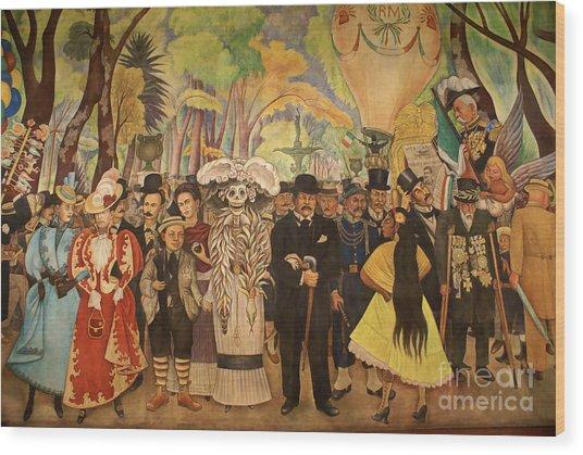 Dream In The Alameda Diego Rivera Mexico City Wood Print