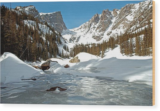 Dream Lake Rocky Mountain Park Colorado Wood Print by James Steele