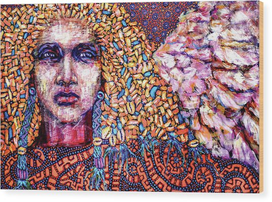Dream Messenger-angel Wood Print