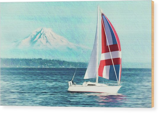 Dream Of Sailing Wood Print