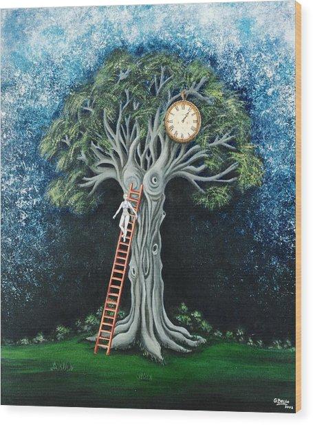 Dream Of The Clock Wood Print