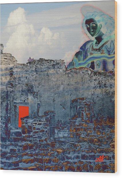 Dream Of Tulum Ruins Wood Print