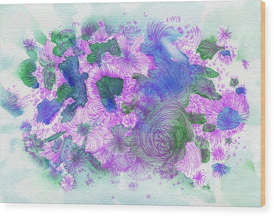 Dream - #ss16dw054 Wood Print by Satomi Sugimoto