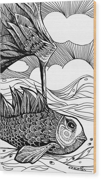 Dreamer Fish Wood Print