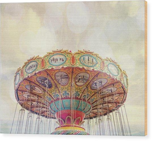 Dreamer - Nostalgic Summer Carnival Wood Print