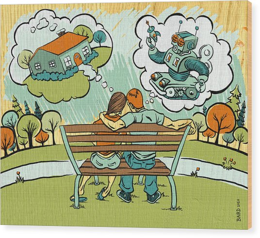 Dreamers Wood Print by Baird Hoffmire