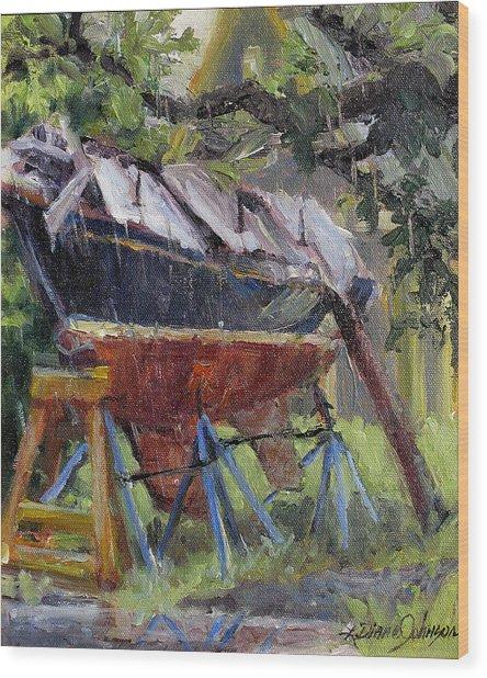 Dreamin' In The Rain Wood Print by L Diane Johnson