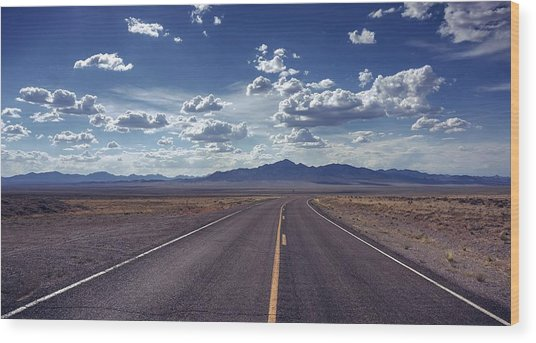 Dreaming About The Extraterrestrial Highway Wood Print