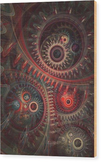 Dreaming Clocksmith Wood Print