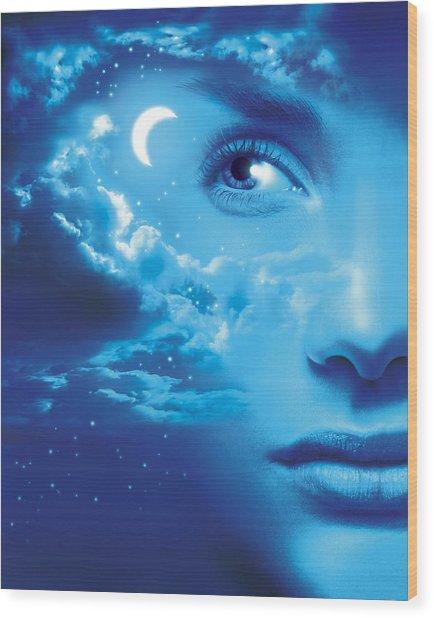 Dreaming, Conceptual Image Wood Print by Smetek