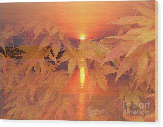 Dreaming Of Fall Wood Print