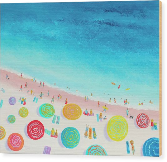 Dreaming Of Sun, Sand And Sea Wood Print