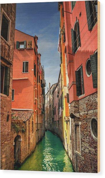 Dreaming Of Venice  Wood Print
