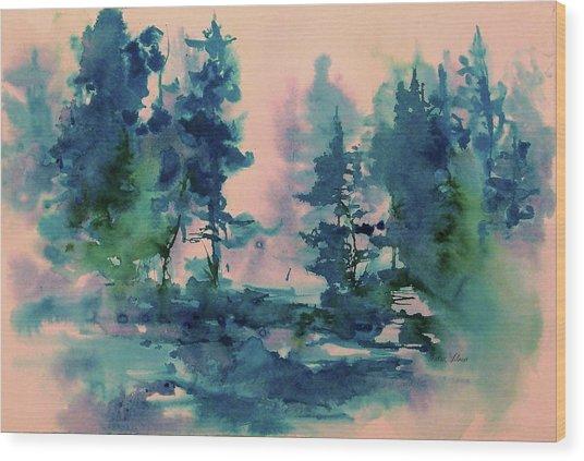 Dreaming Wood Print by Sharon K Wilson