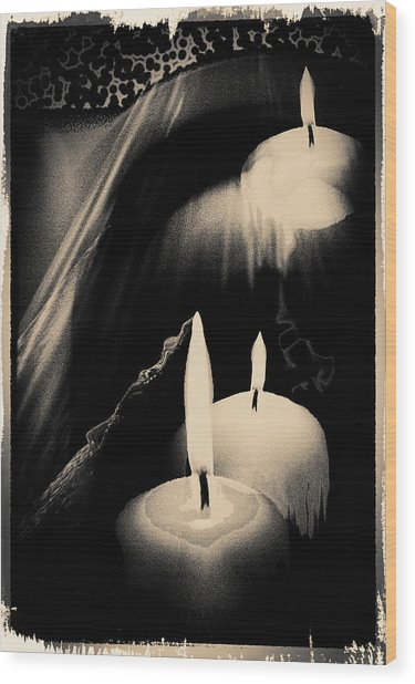 Dreams And Candlelight Wood Print
