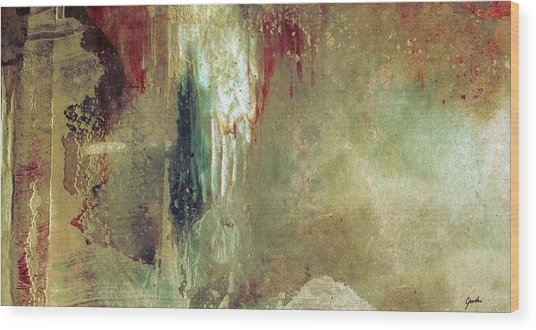 Dreams Come True - Earth Tone Art - Contemporary Pastel Color Abstract Painting Wood Print