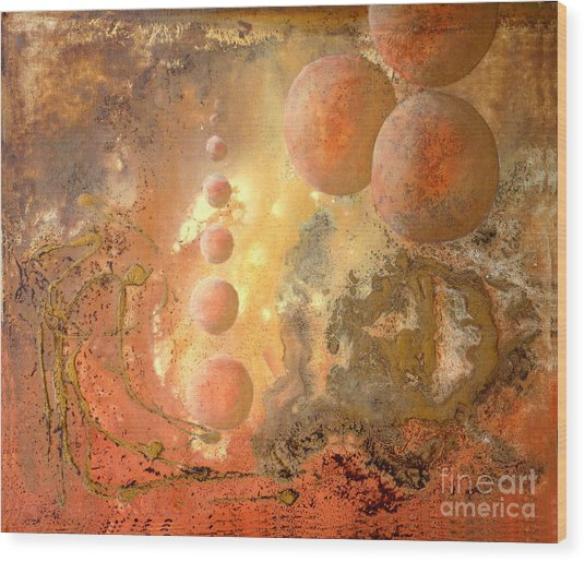 Dreams Of A New World Wood Print by Sonia Flores Ruiz