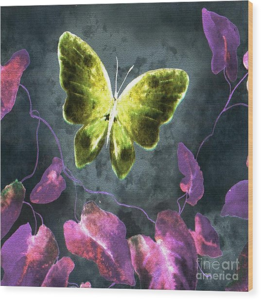 Dreams Of Butterflies Wood Print
